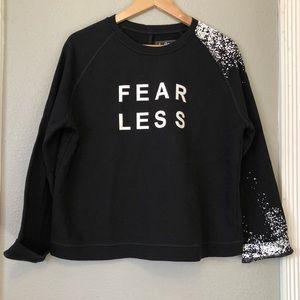 Sam Edelman Fearless Black crewneck sweatshirt
